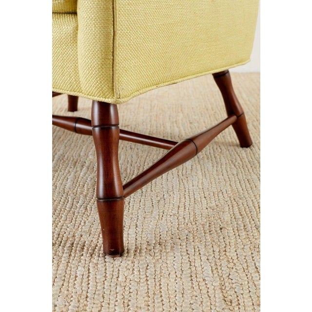 Westcott Citron Linen Wing Chair by Bunny Williams For Sale - Image 10 of 13