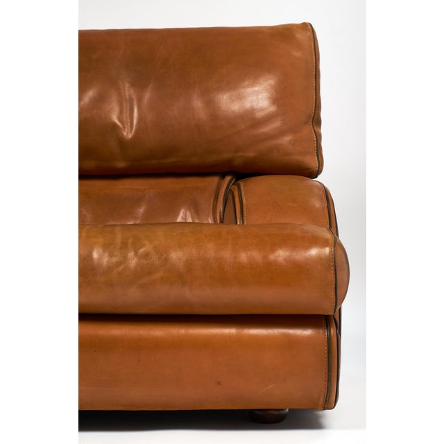 Vintage Baxter Italian Leather Sofa For Sale - Image 10 of 10