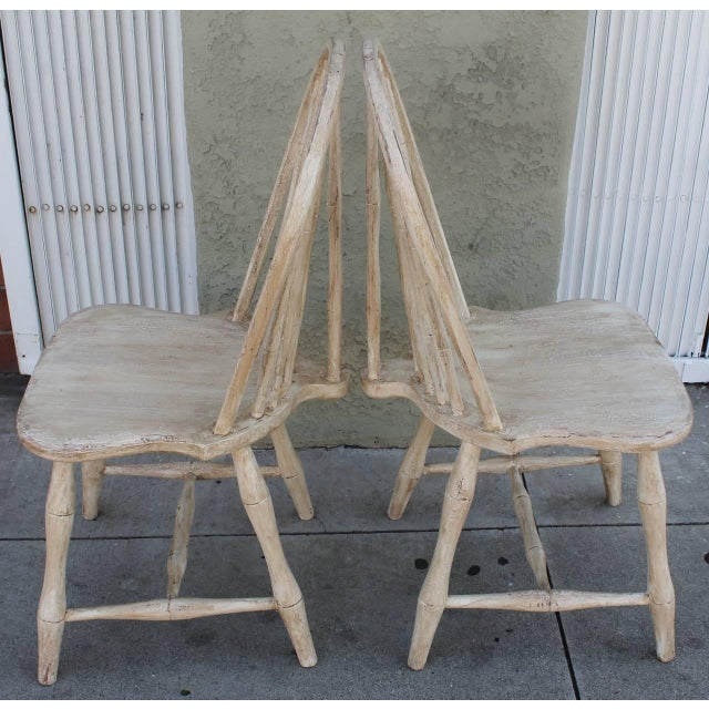 Pair of 19th Century White Painted Windsor Chairs - Image 2 of 8