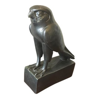 Vintage Esco Products Chalkware Horus Egyptian Falcon Sculpture For Sale