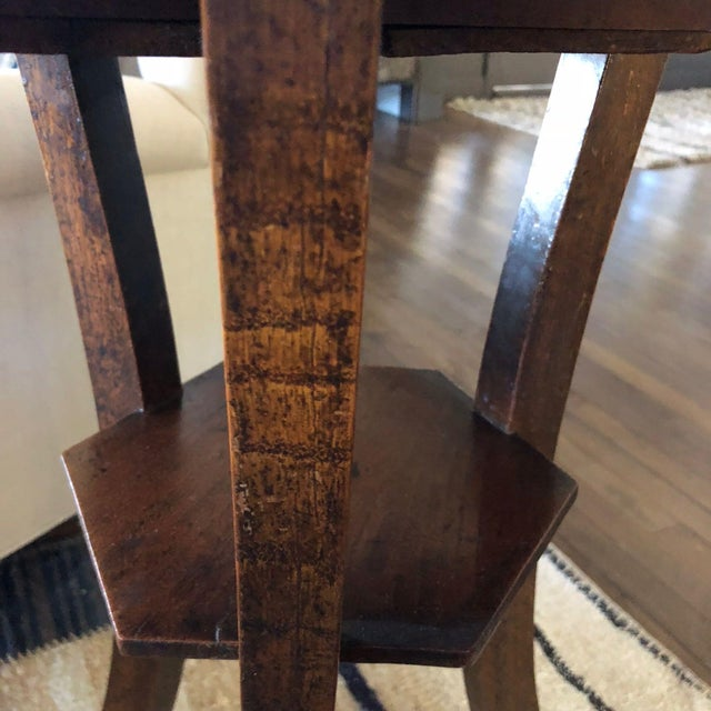 English 18th Century English Octagonal Side Table For Sale - Image 3 of 5
