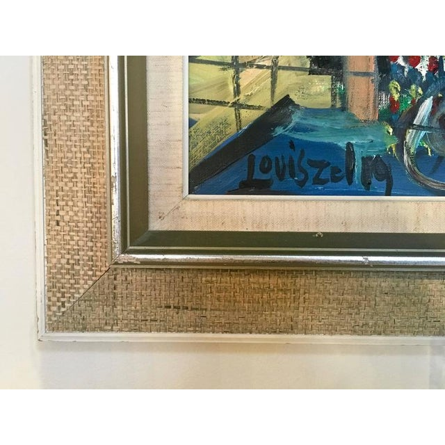 Blue Loius Zelig Mid-Century Modern Painting For Sale - Image 8 of 10