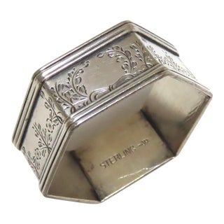 Antique American Sterling Silver Napkin Ring For Sale