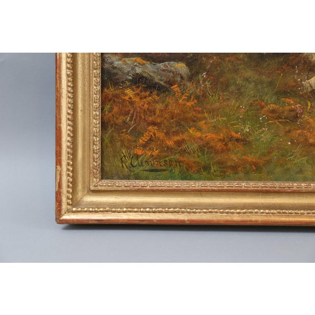 Antique Sporting Dogs Oil Painting, Robert Cleminson (Active 1864-1903) For Sale In Houston - Image 6 of 9