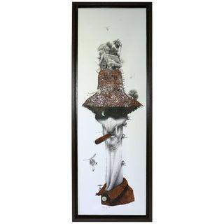 Organic Surrealist Collage by Cuban Artist Velasquez Quotes For Sale