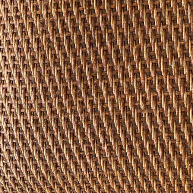 Mid-Century Synthetic Rattan Chairs - A Pair For Sale - Image 4 of 8