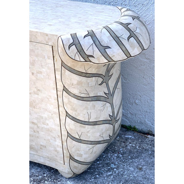 Off-white Bold Pop Art Tessellated Stone Credenza by Maitland Smith For Sale - Image 8 of 11
