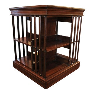 20th Century English Traditional Revolving Bookcase For Sale