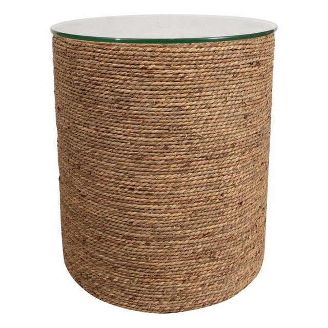Boho Chic Small Rattan Wrapped Side Table For Sale - Image 3 of 6