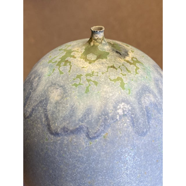 1960s Mid-Century Modern Rose Cabat 'Feelie' Lavender Blue With Olive Crystalline For Sale In Phoenix - Image 6 of 13