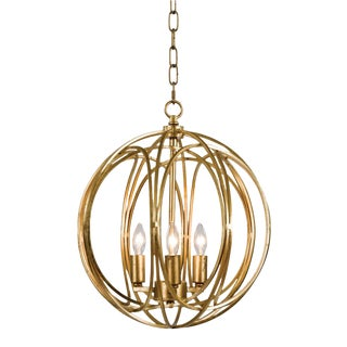 Ofelia Pendant Medium in Gold Leaf For Sale