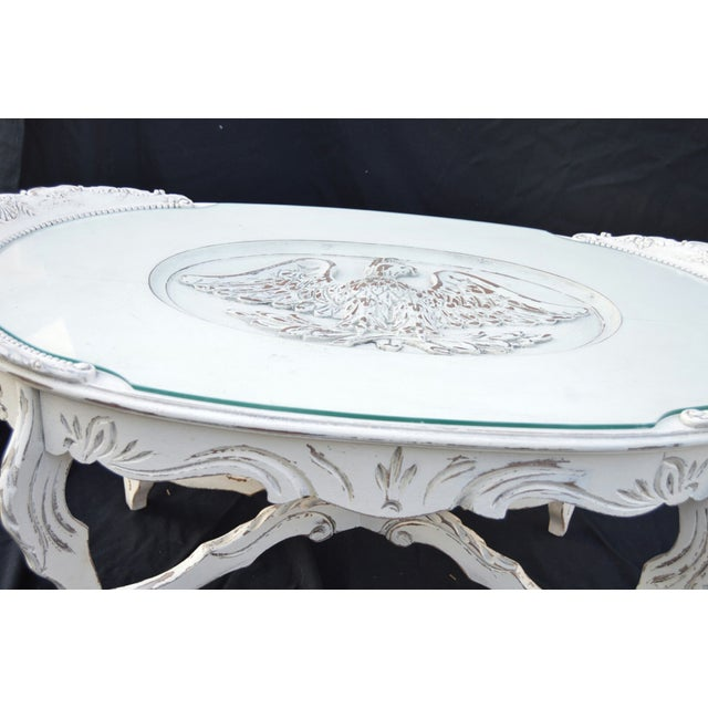 Vintage White Cottage Chic Coffee Table - Image 3 of 4