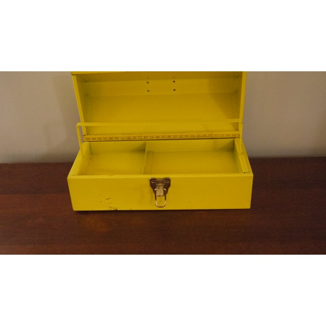 Yellow Metal Toolbox For Sale - Image 5 of 6