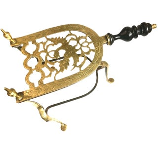 Antique English Brass Iron Trivet Stand 19th Century For Sale