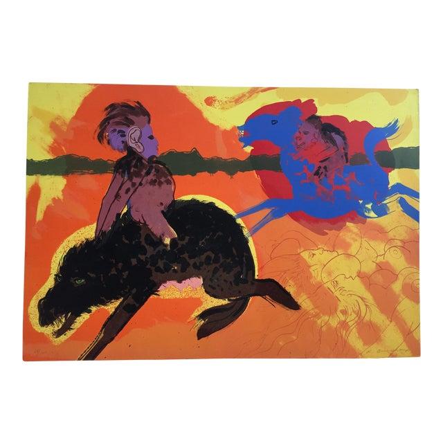"Robert Beauchamp Original Lithograph "" Riders"" - Image 1 of 6"