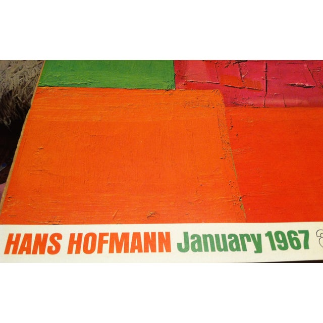 Rare and out-of-print Hans Hofmann offset lithograph poster produced by André Emmerich New York 1967. The poster was...