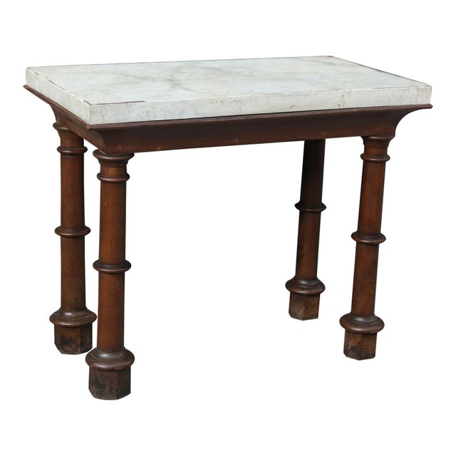 Mid 19th Century Faux Marble-Top Console For Sale - Image 5 of 10
