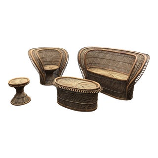 1970s Vintage King Cobra Peacock Seat Set- 4 Pieces For Sale