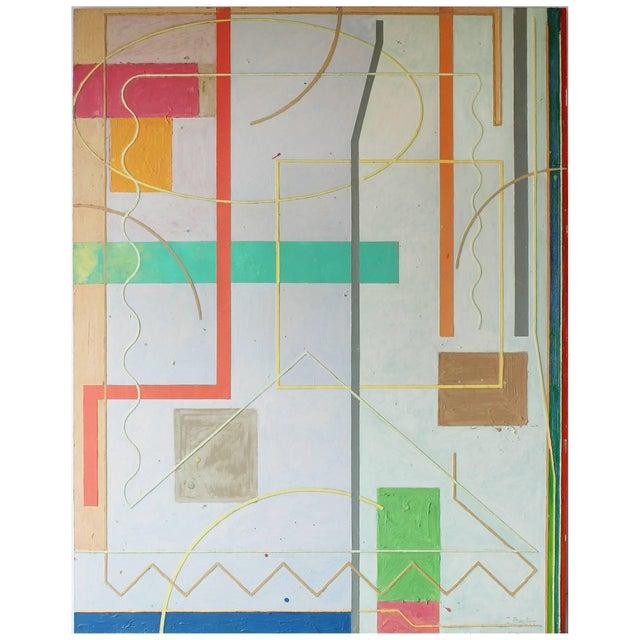 Canvas Tom Bacher Moderne #9 For Sale - Image 7 of 7