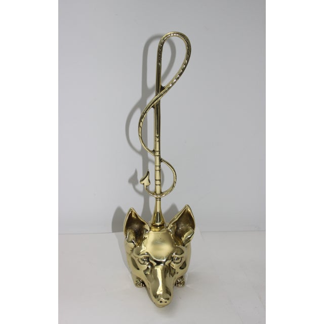 """This Edwardian style door stop was created by Virginia Metalcrafters in the 1960s and it will add a bit of """"hunt country""""..."""