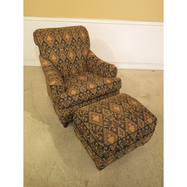 Item: 44553EC/54EC: HANCOCK & MOORE Tarleton Upholstered Chair & Ottoman Age: Approx: 20 Years Old Details: High Quality...