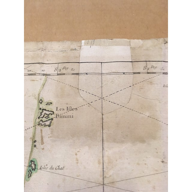1762 Depot Des Cartes Carte Reduite De l'Isle De Cube Map of Cuba Hydrographical For Sale In Minneapolis - Image 6 of 13