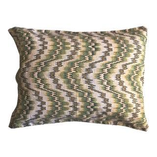 Vintage English Linen Flame Stitch Pillow