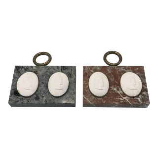 Grand Tour Portrait Plaques of Roman Emperors - A Pair For Sale