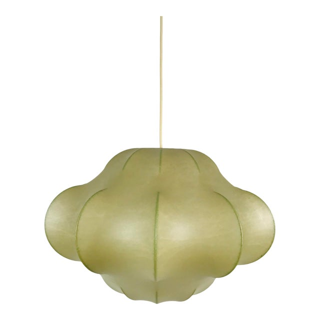 1960s Mid-Century Modern Flower Shape Cocoon Pendant Lamp, Italy For Sale
