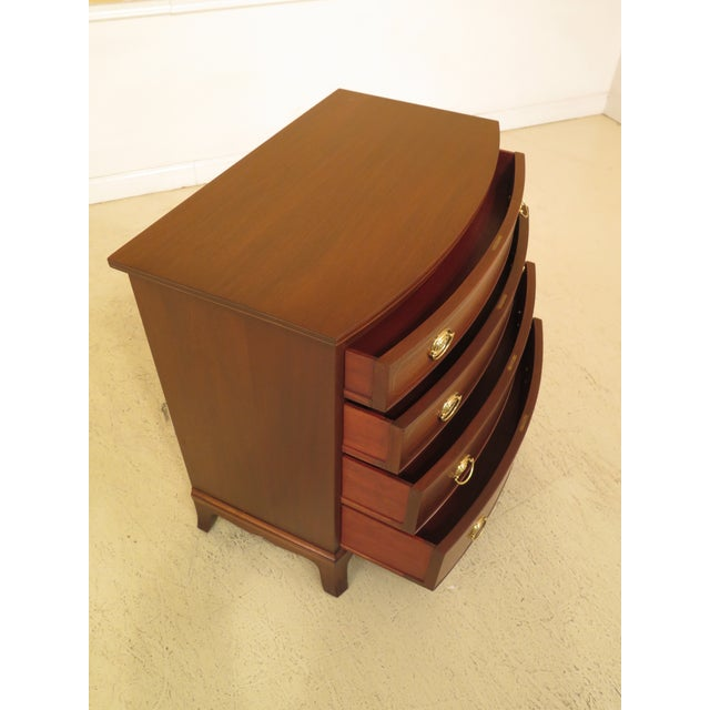 1960s 1960s Federal Biggs Inlaid Mahogany 4 Drawer Bow Front Chest For Sale - Image 5 of 13