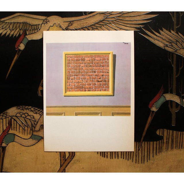 """Modern 1972 Rene Magritte, """"The Empty Picture Frame"""" Original Photogravure For Sale - Image 3 of 7"""