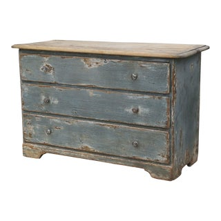 19th Century Painted Three-Drawer Commode For Sale