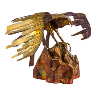 Brutalist Brass Bird of Prey For Sale