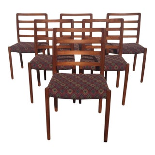 Moller Model 85 Teak Chairs - Set of 6 For Sale
