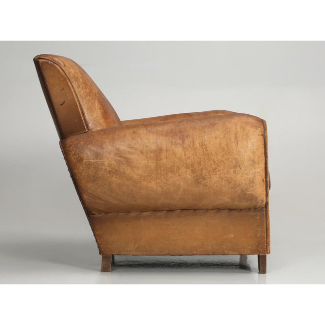 Art Deco French Art Deco Club Chair Carefully Restored For Sale - Image 3 of 13