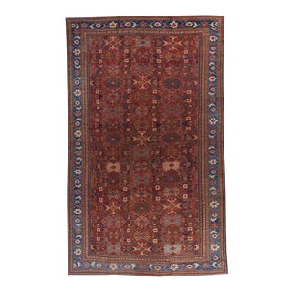 Tomato Red Ground Oversized Mahal Carpet For Sale