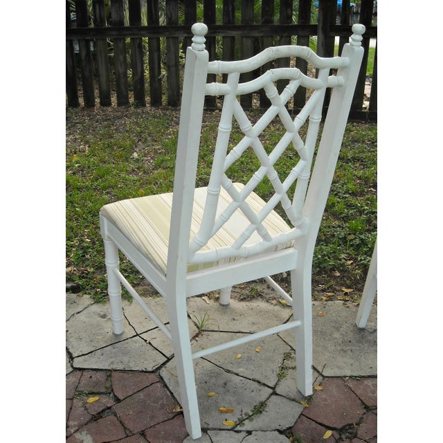 Vintage Faux Bamboo Dining Chairs - Set of 4 - Image 8 of 9