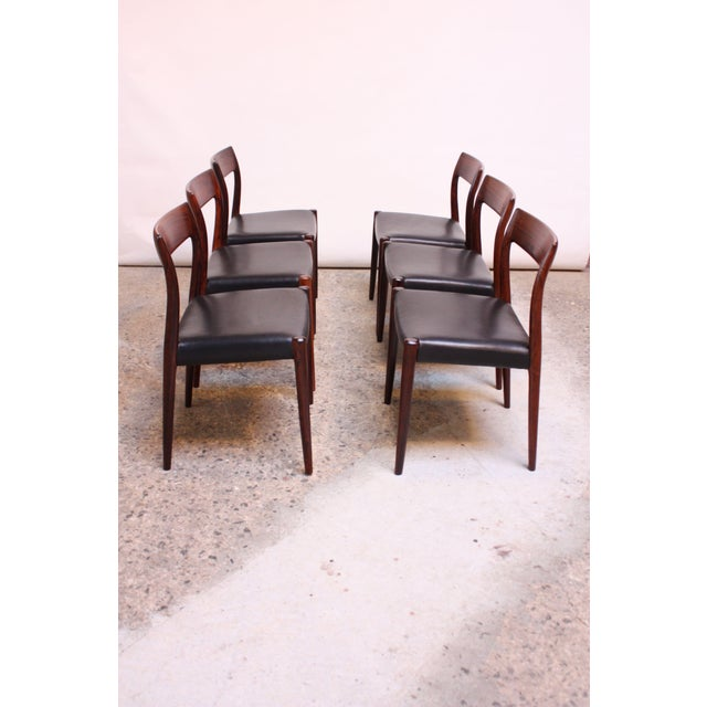 Set of Six Rosewood #77 Dining Chairs by Niels O. Møller - Image 2 of 11