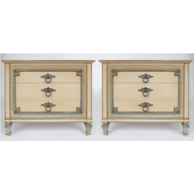 John Widdicomb Hand-Painted Night Tables With Drawers-A Pair For Sale - Image 13 of 13