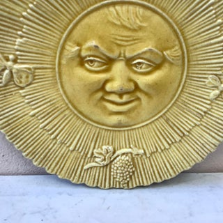 1880 Antique French Majolica Sun Wall Plate Preview