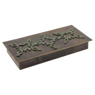 Mid-Century French Modernist Decorative Lidded Brass Box