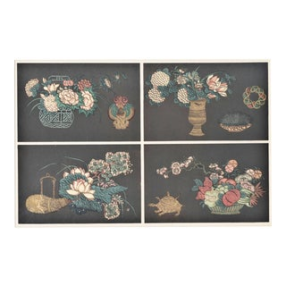 Matted Art Deco Chinese Coromandel Design Lithograph For Sale