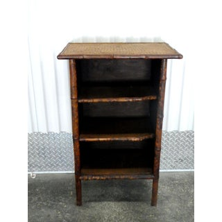 Antique Edwardian Tortoise Shell Bamboo and Sea Grass 3 Shelf Stand Preview