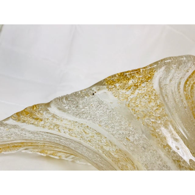 1970s Vintage Textured Art Glass Calla Lilly Glass Shades - Set of 4 For Sale - Image 5 of 9