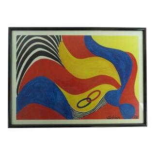 """1973 Vintage Alexander Calder """"Flying Colors"""" Lithograph For Sale"""