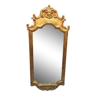 1950s Vintage Gilt Baroque Style Mirror For Sale