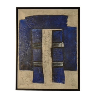 Bungalow 5 Blues Framed Canvas Painting For Sale