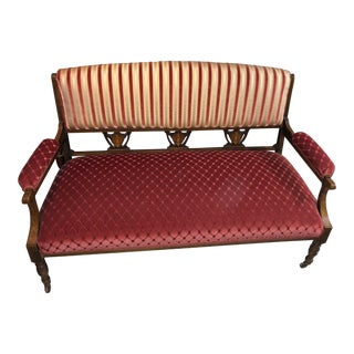 Vintage Red & Pink Bench For Sale