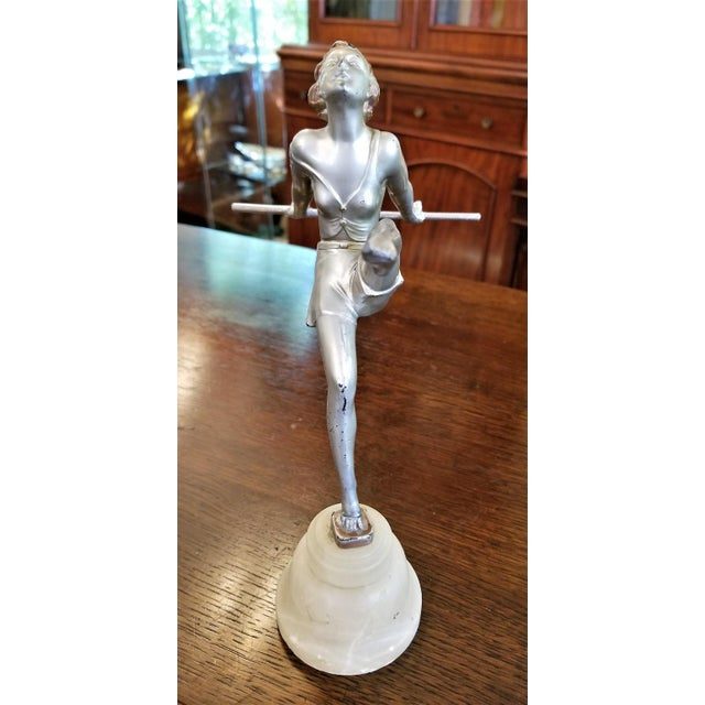 Art Deco Figurine of Dancing Girl For Sale - Image 11 of 12