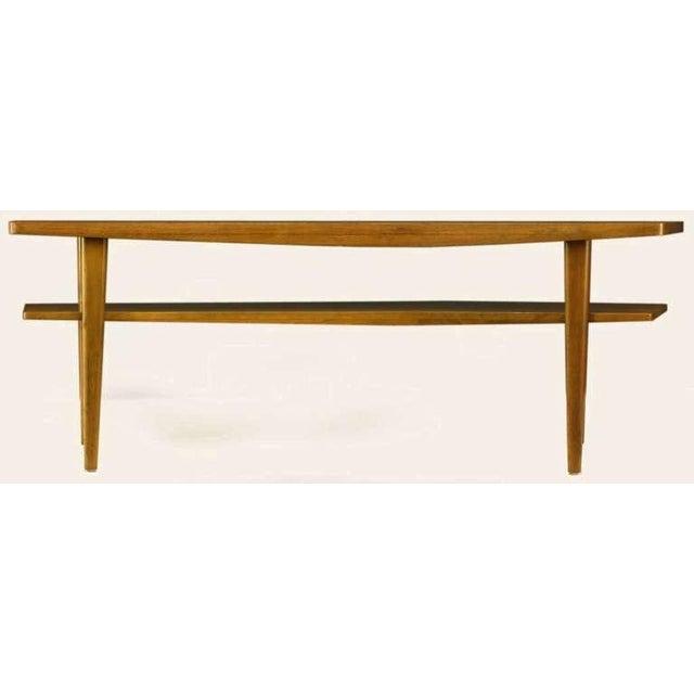 M.Singer & Sons Angled Italian Walnut Coffee Table - Image 3 of 9